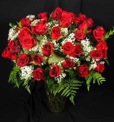 Four Dozen Roses Simple Bouquets All Occasion Flowers And